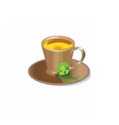 Tea in cup vector image vector image