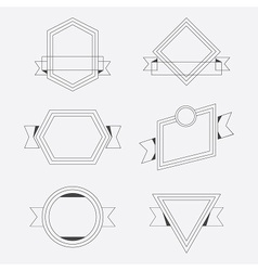 Thin line geometrical banners design elements set vector image vector image