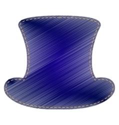 Top hat sign vector