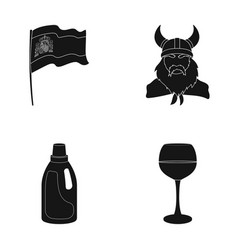 Travel cleaning and or web icon in black style vector