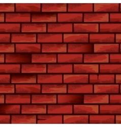 old red brick grunge wall background vector image