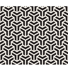 Seamless black and white geometric grid vector