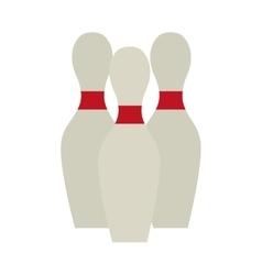 bowling pin set game design vector image