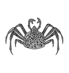 king crab icon in monochrome style isolated on vector image