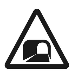 Tunnel ahead sign line icon vector
