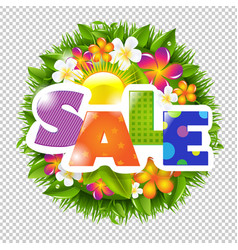 Summer and spring sale banner vector