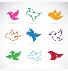group of bird design on white background bird vector image