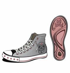 Skull shoe vector
