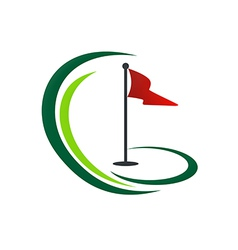 Golf land play tournament logo vector