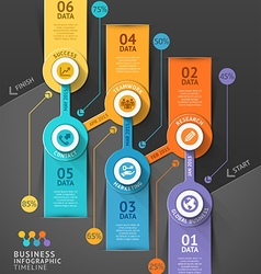 Business timeline infographic template vector