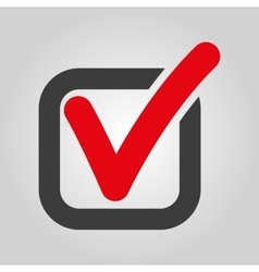 The check icon checkmark and checkbox yes vector