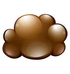 Fluffy cloud on white vector