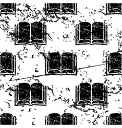 Book pattern grunge monochrome vector
