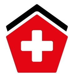Clinic building icon vector