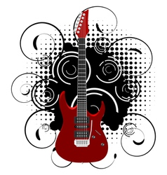 guitar grunge vector image