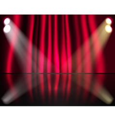 Curtained stage vector