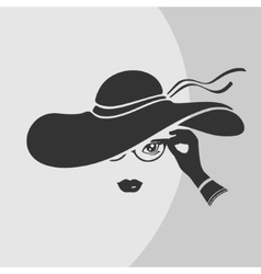 Woman in a hat symbol vector