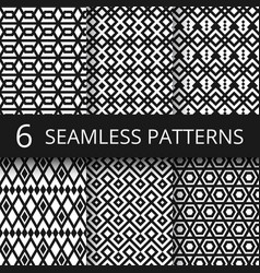 abstract arabic geometric seamless patterns vector image