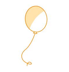 Balloon air party icon vector