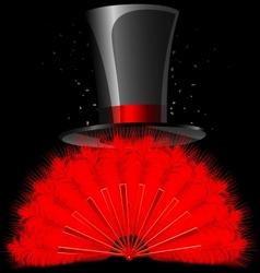 black top-hat vector image