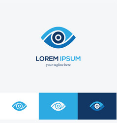 Blue eye logo vector