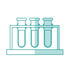 Blue silhouette shading image test tube icon vector