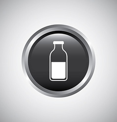 bottle button design vector image