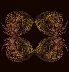 Bright stylish card steampunk style rusty gold vector
