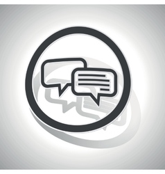 Chatting sign sticker curved vector