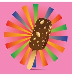 Chocolate Ice Cream Background vector image