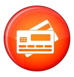 Credit card icon flat style vector