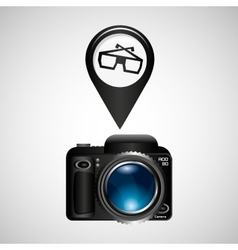 digital photo camera glasses 3d vector image vector image