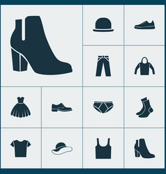 Garment icons set collection of half-hose vector