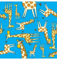 giraffe pattern vector image