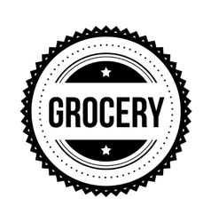 Grocery vintage stamp vector