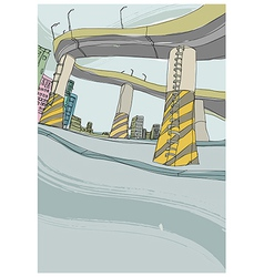 Highway Background vector image vector image
