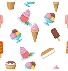 Ice cream pattern cartoon style vector