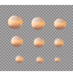 Jupiter Planet Jupiter isolated Set planet Jupiter vector image vector image