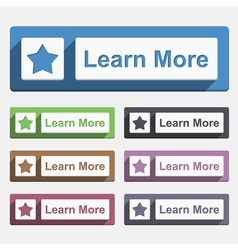 Learn more button vector