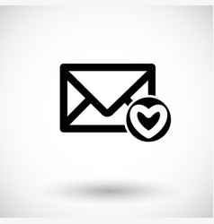 Mail icon envelope vector