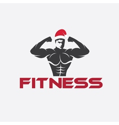 man fitness silhouette character with merry vector image vector image