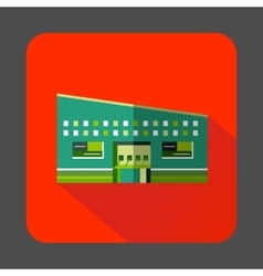 Modern building icon in flat style vector image vector image