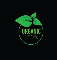 organic icon green vector image