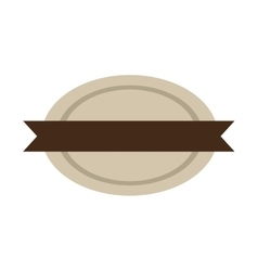 Oval shape seal stamp with brown label vector