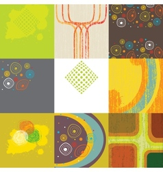 Set of 9 abstract grunge backgrounds vector image