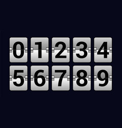 set of numbers on a scoreboard - realistic vector image vector image