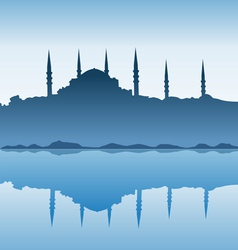 Silhouette of Istanbul vector image vector image