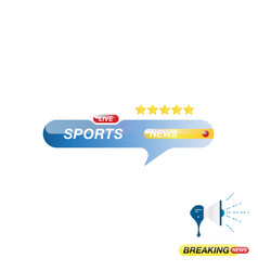 Sports news icon for journalism of news tv vector