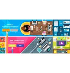 Strategy new technologies brand design travel vector