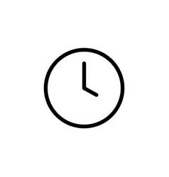 thin line clock icon vector image vector image